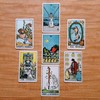 Lá Three of Cups – Aleister Crowley Thoth Tarot 1