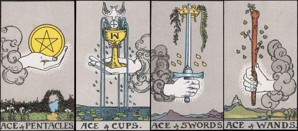 bốn lá bài ace tarot