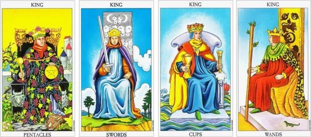 the-four-kings minor arcana