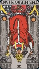 Diễn Giải Ngược của Lá Bài The Hierophant