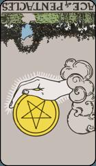 Diễn Giải Ngược của Lá Bài Ace of Pentacles