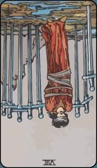 Diễn Giải Ngược của Lá Bài 8 of Swords