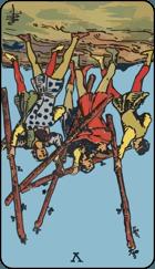 Diễn Giải Ngược của Lá Bài 5 of Wands