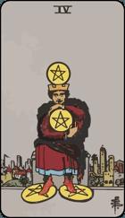 Diễn Giải Xuôi của Lá Bài 4 of Pentacles