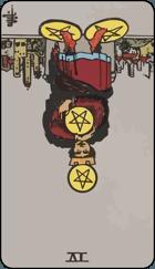 Diễn Giải Ngược của Lá Bài 4 of Pentacles