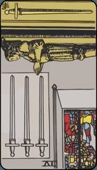 Diễn Giải Ngược của Lá Bài 4 of Swords