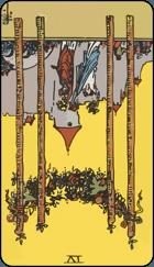 Diễn Giải Ngược của Lá Bài 4 of Wands
