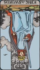 Diễn Giải Ngược của Lá Bài King of Swords