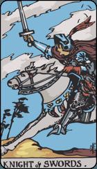 Diễn Giải Xuôi của Lá Bài Knight of Swords