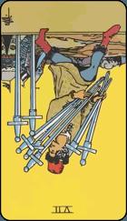 Diễn Giải Ngược của Lá Bài 7 of Swords