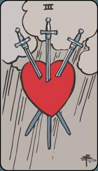 Ý Nghĩa Lá Bài 3 of Swords Trong Tarot
