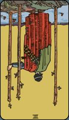 Diễn Giải Ngược của Lá Bài 3 of Wands