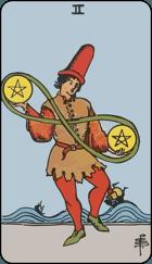 Ý Nghĩa Lá Bài 2 of Pentacles Trong Tarot