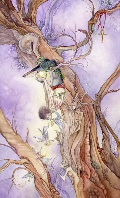 Cảm Nhận Lá bài The Hanged Man Trong Shadowscapes Tarot