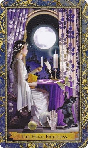 Ý nghĩa lá The High Priestess trong bộ bài Wizards Tarot