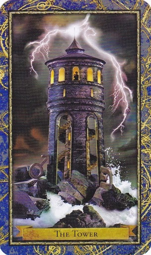 Ý nghĩa lá The Tower trong bộ bài Wizards Tarot