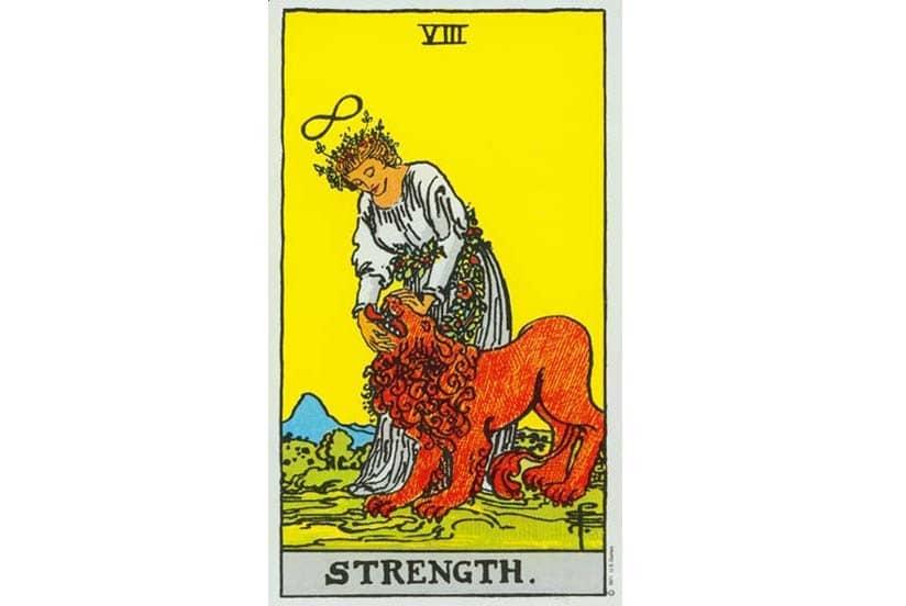 Rider-Waite-VIII-Strength