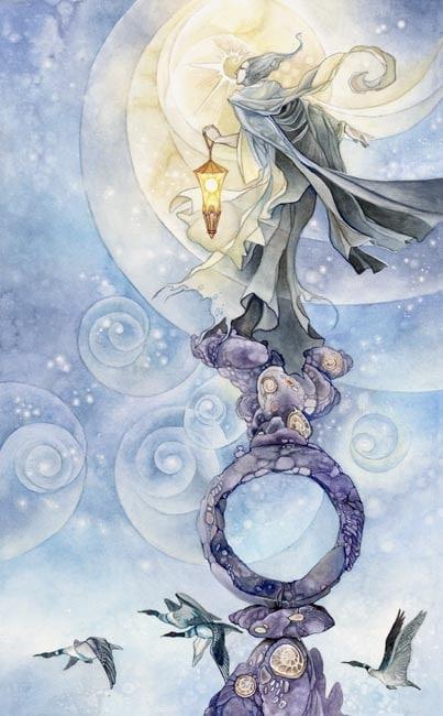 Cảm Nhận Lá Bài The Hermit Trong Shadowscapes Tarot