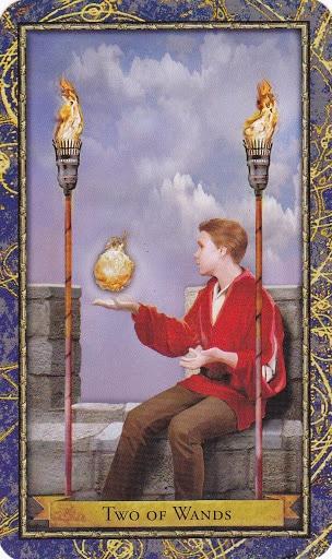 Ý nghĩa lá 2 of Wands trong bộ Wizards Tarot