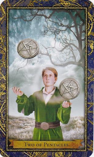 Ý nghĩa lá 2 of Pentacles trong bộ Wizards Tarot