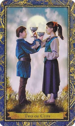 Ý nghĩa lá 2 of Cups trong bộ bài Wizards Tarot