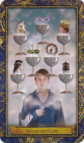 Ý nghĩa lá 7 of Cups trong bộ Wizards Tarot
