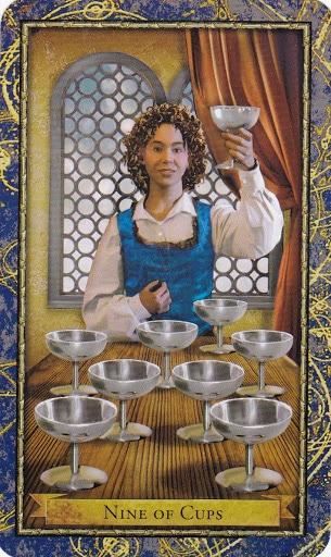 Ý nghĩa lá 9 of Cups trong bộ Wizards Tarot