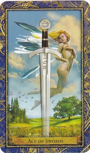 Ý nghĩa lá Ace of Swords trong bộ Wizards Tarot