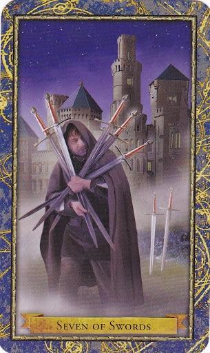 Ý nghĩa lá 7 of Swords trong bộ Wizards Tarot