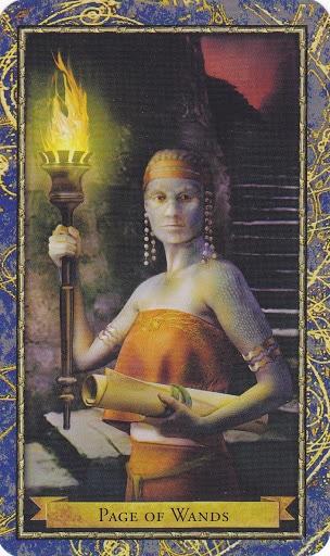 Ý nghĩa lá Page of Wands trong bộ bài Wizards Tarot