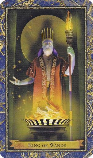 Ý nghĩa lá King of Wands trong bộ bài Wizards Tarot