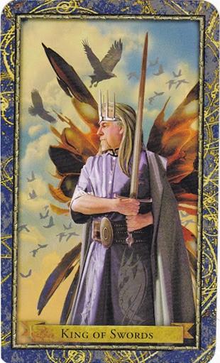 Ý nghĩa lá King of Swords trong bộ Wizards Tarot