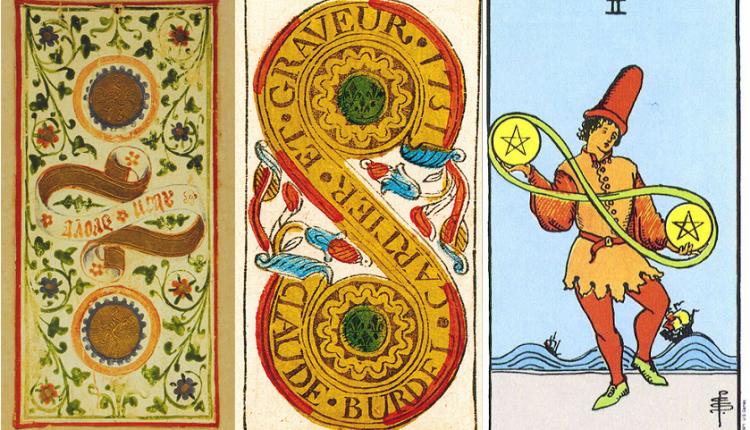 Two of Pentacles: Sao Thiên Vương tại Ma Kết