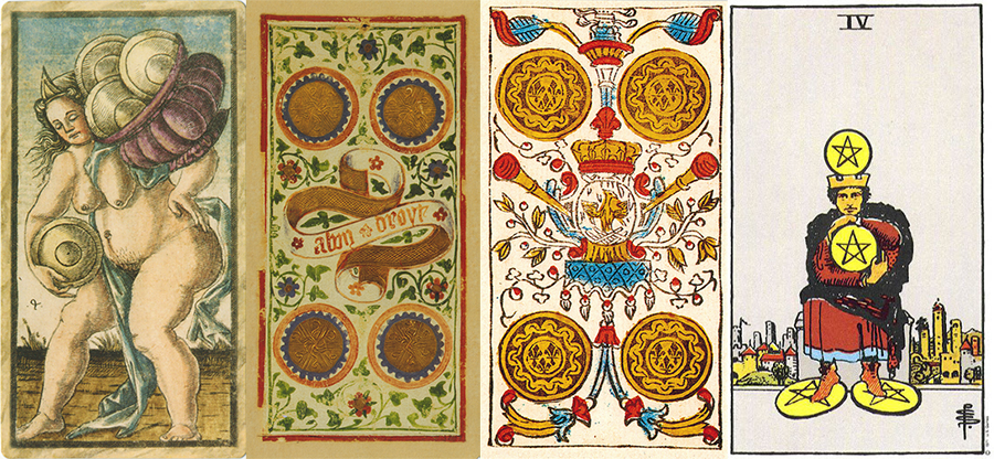 Four of Pentacles: Sao Mộc tại Ma Kết 1