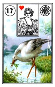 Lenormand 17 Stork