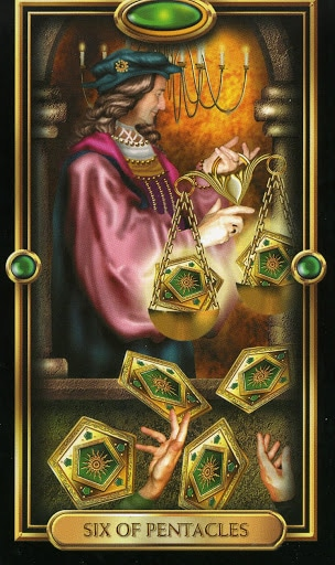 Lá Six of Pentacles – Gilded Tarot