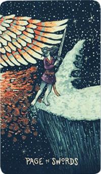 Lá Page of Swords – Prisma Visions Tarot