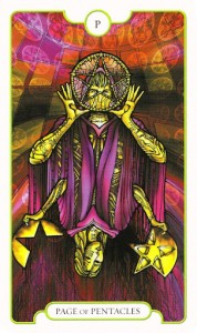 Pentacles Page