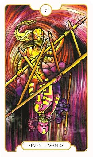 Lá Seven of Wands – Revelation Tarot