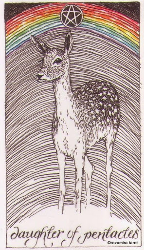 Lá Daughter of Pentacles – Wild Unknown Tarot