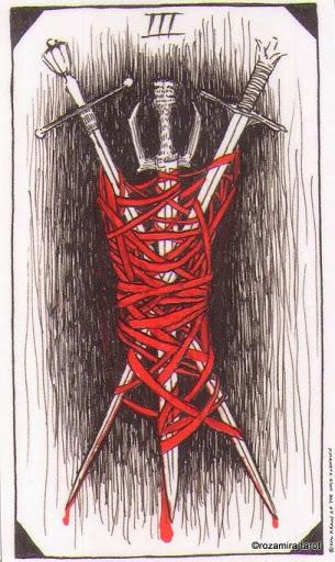 Lá Three of Swords – Wild Unknown Tarot