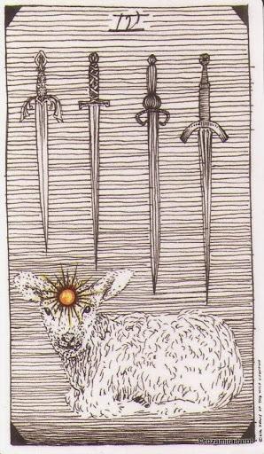 Lá Four of Swords – Wild Unknown Tarot
