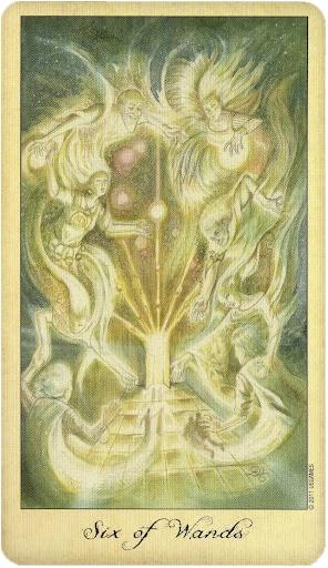 Lá Six of Wands – Ghosts and Spirits Tarot