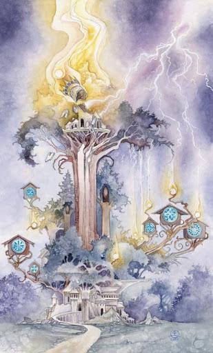 Lá XVI  The Tower - Shadowscapes Tarot - Tarot Việt Nam