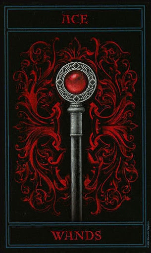 Lá Ace of Wands – Gothic Tarot