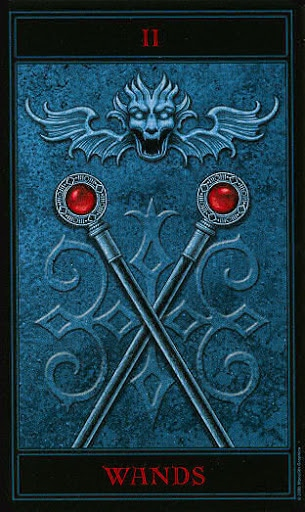 Lá Two of Wands – Gothic Tarot