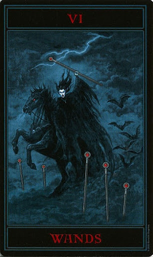 Lá Six of Wands – Gothic Tarot