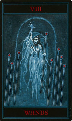 Lá Eight of Wands – Gothic Tarot