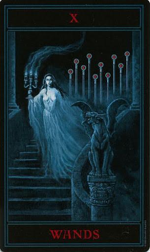 Lá Ten of Wands – Gothic Tarot