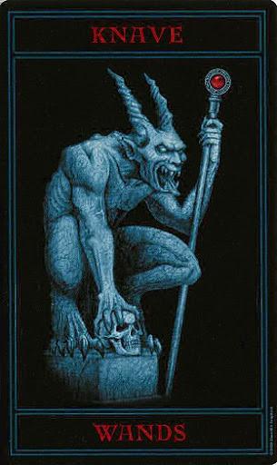 Lá Knave of Wands – Gothic Tarot